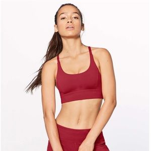 Lululemon Train Times Bra in Scarlet Size 6